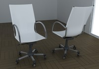 3d model chair office
