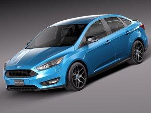 2015 sedan focus 3d model