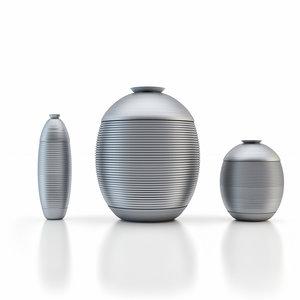 metal vases 3d max