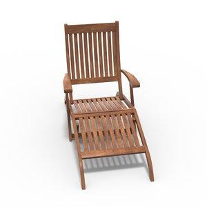 teak lounge chair lwo