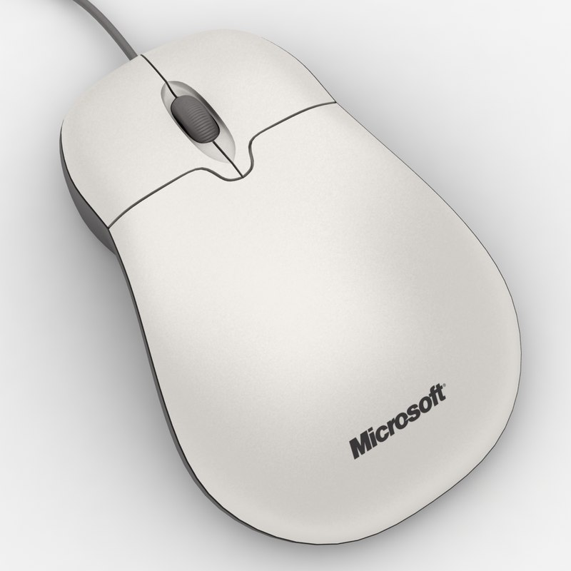 realistic microsoft mouse 3d model