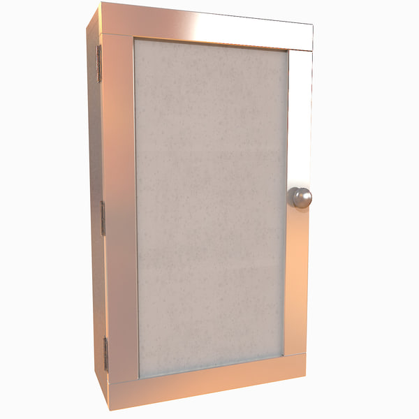 3d max medical metal cabinet