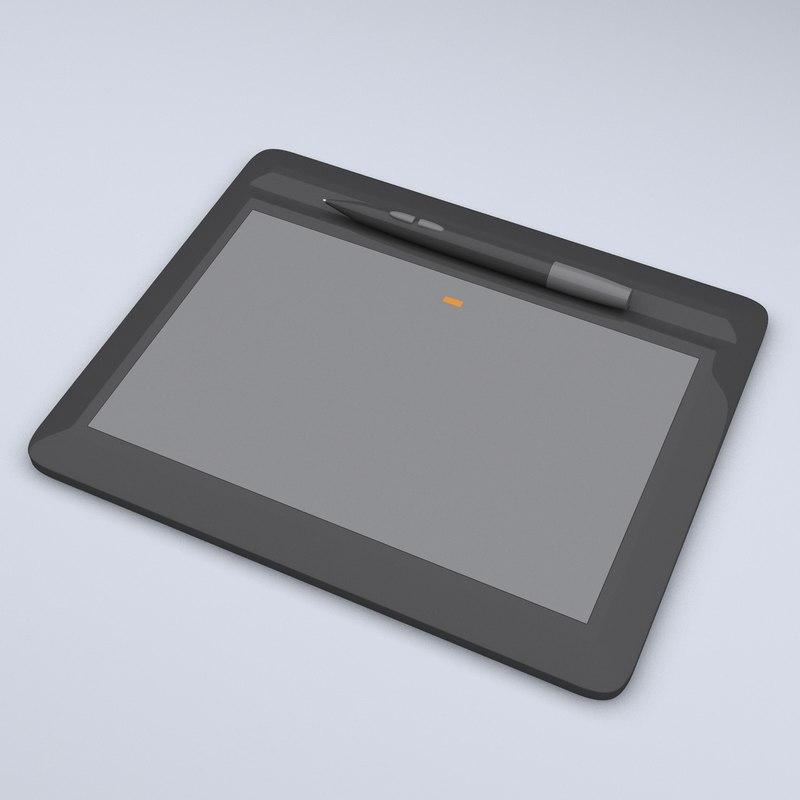 pen tablet 3d model