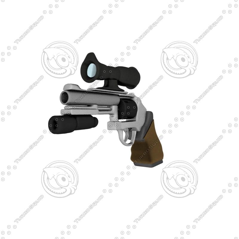 revolver pistol 3d 3ds