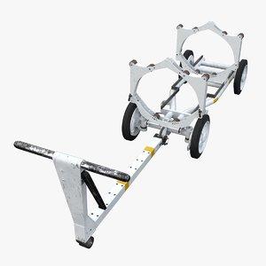 3d model of bomb cart navy