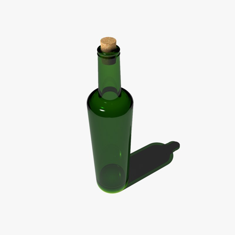 3d glass bottle
