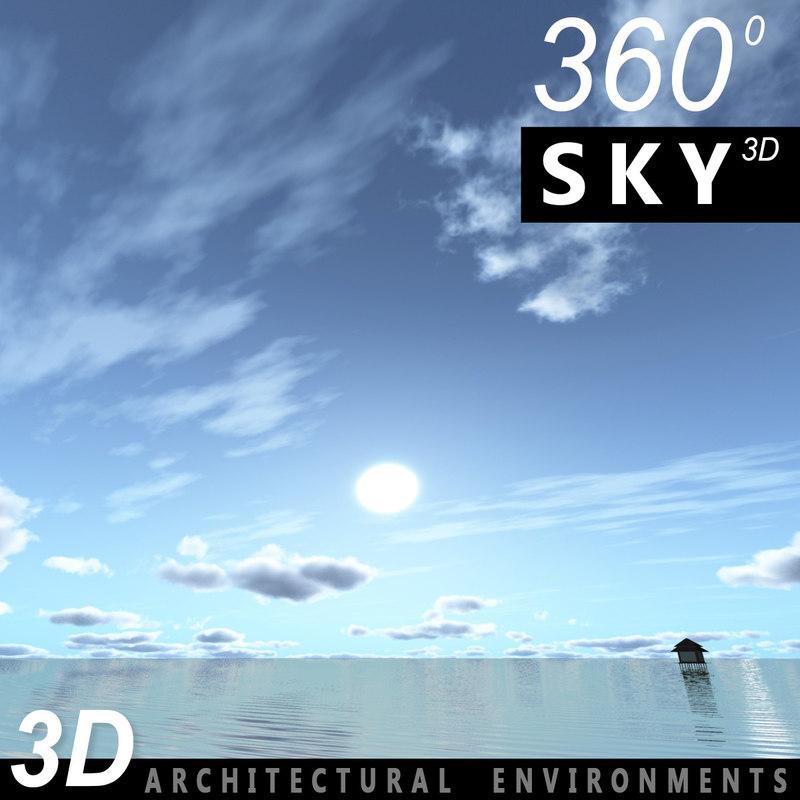 3d sky clouds