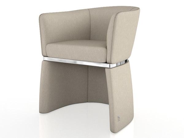 3d max smania gramercy chair