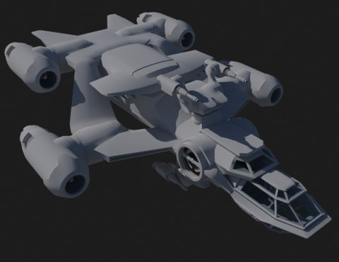 transport ship 3d max