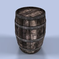 max old wooden barrel