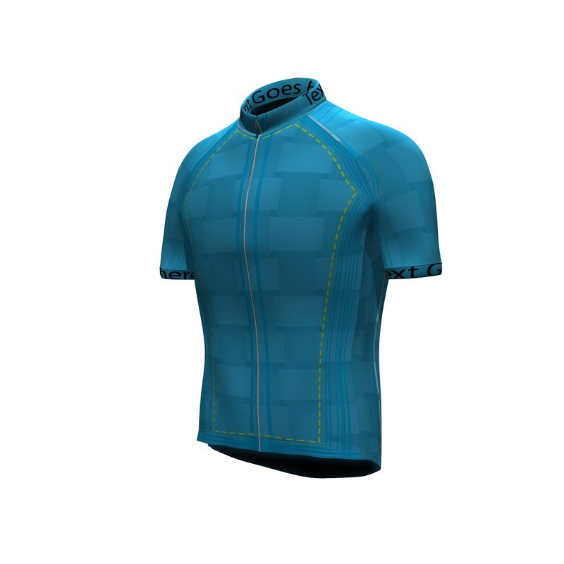 men velocity cycling jersey 3d model