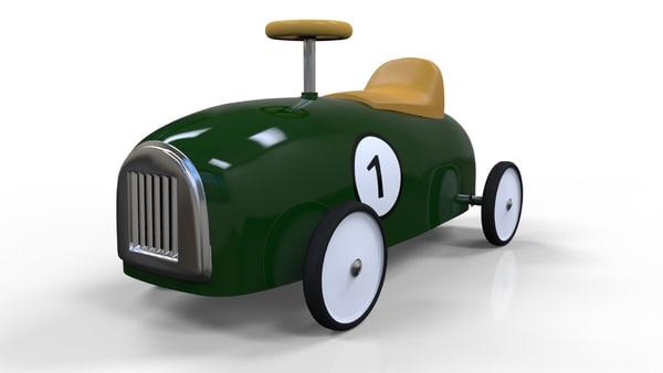 3d model toy car vintage