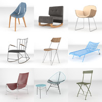 chairs realistic 3d max