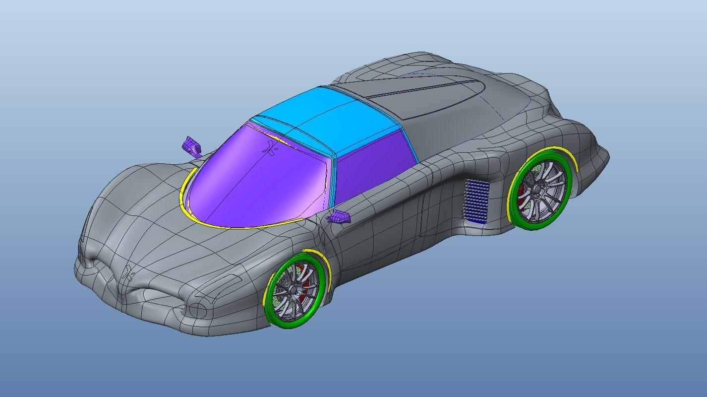 concept car 3d obj