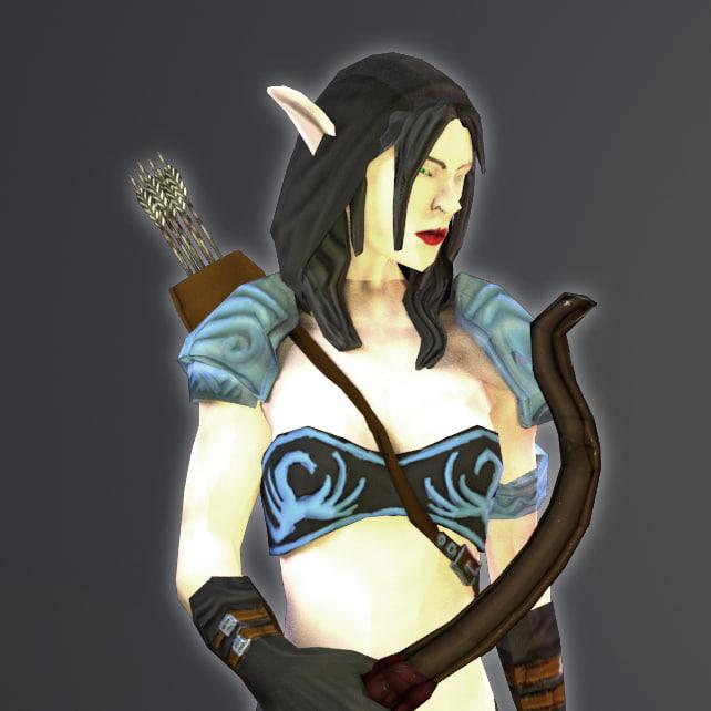 3d model of elf archer