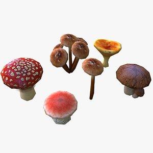 mushroom ready 3d obj