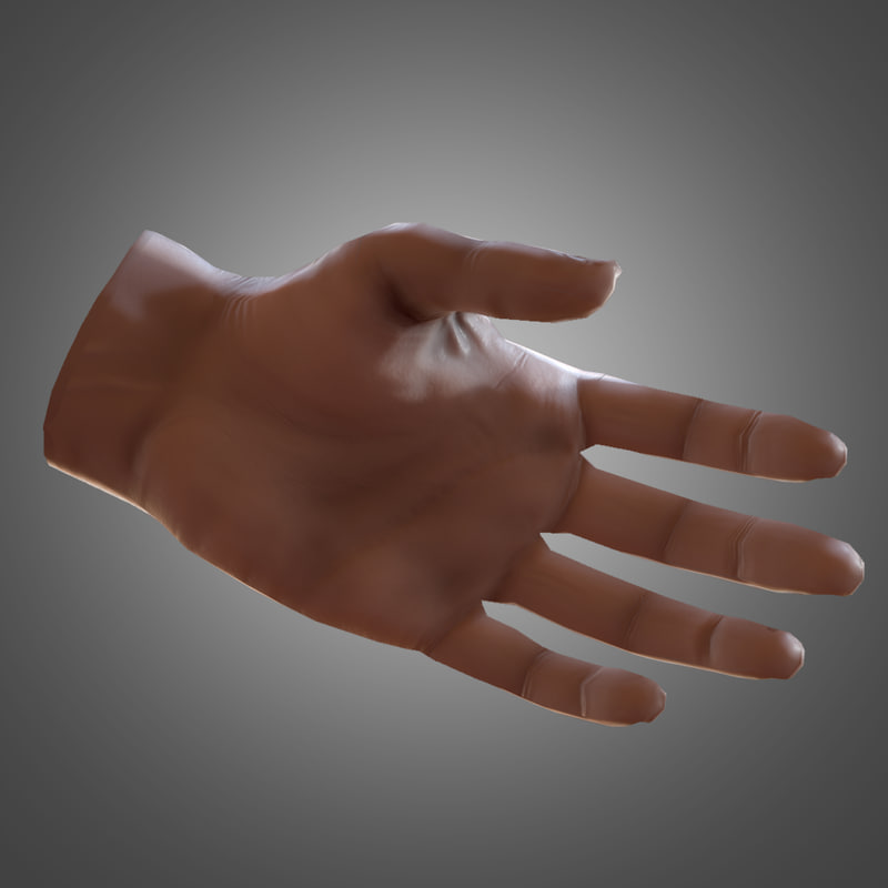 fbx male human hand
