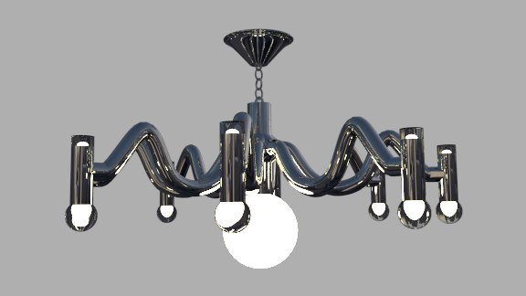 3d chrome lamp model