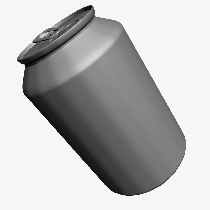 3ds max aluminium beverage