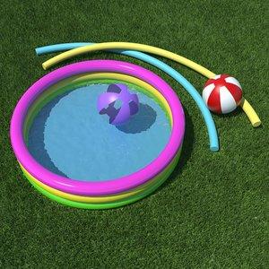 3d model kiddie pool