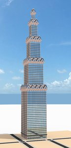 skyscraper nr 25 3d model