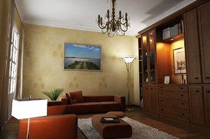 sofa chandelier 3d model