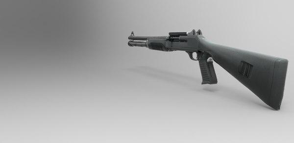 m1014 shotgun 3d model