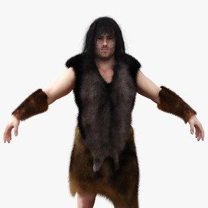 3d neanderthal cave man