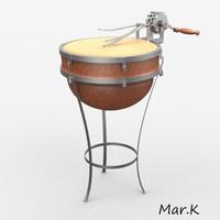 mechanical drum 3d 3ds
