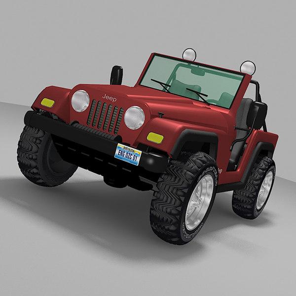 3d modeled 4x4 jeep model
