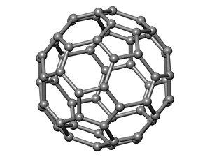 nanotechnology atom carbon graphene 3d model