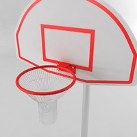 3ds max basketball hoop
