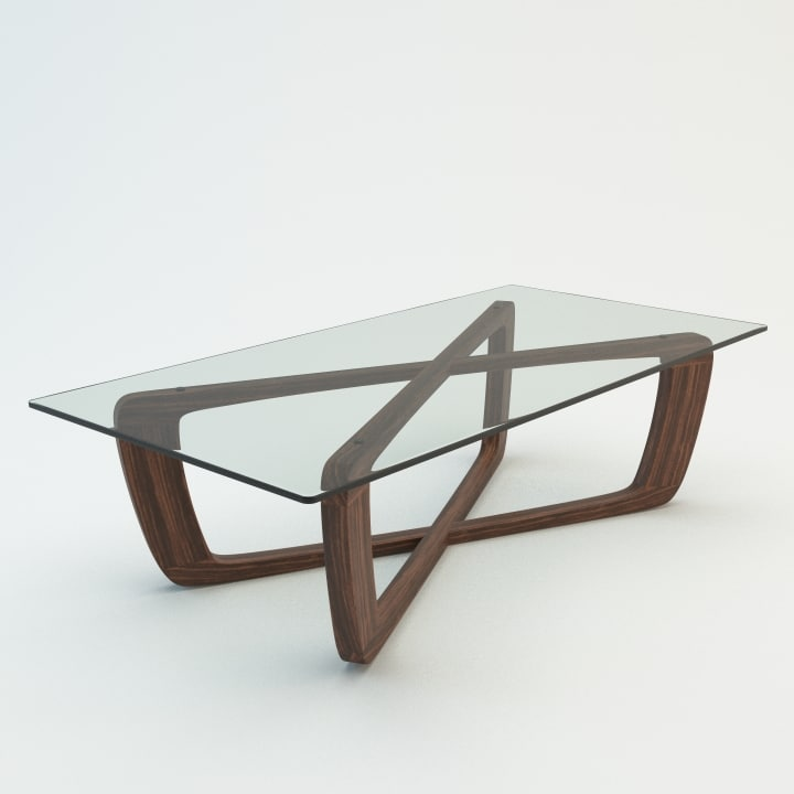 3d model of bark coffee table