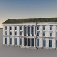 3ds max european building europe