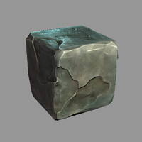 Cartoon stone cube