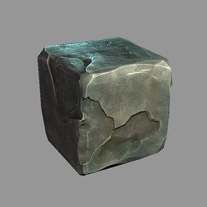 3d model stone box