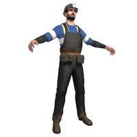 miner man 3d model