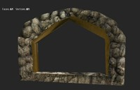 3d max wooden stone arch