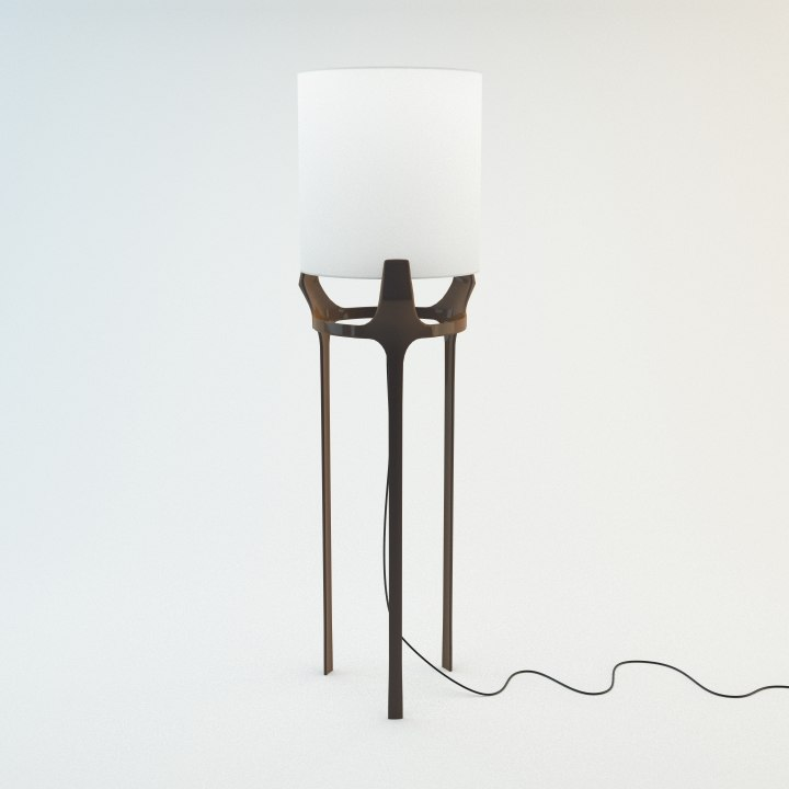 3d model of flint floor lamp