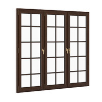 openable wooden window 2570mm 3d max