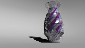 3d multicolored vase