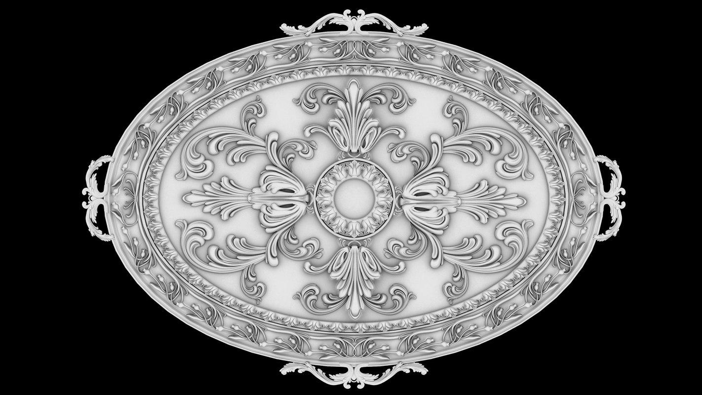 classical fretwork 3d max