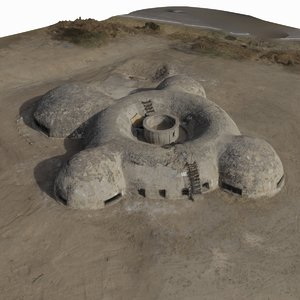 octocopter scanned bunker 3d model