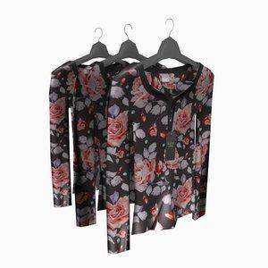 3d woman blouse hanger model