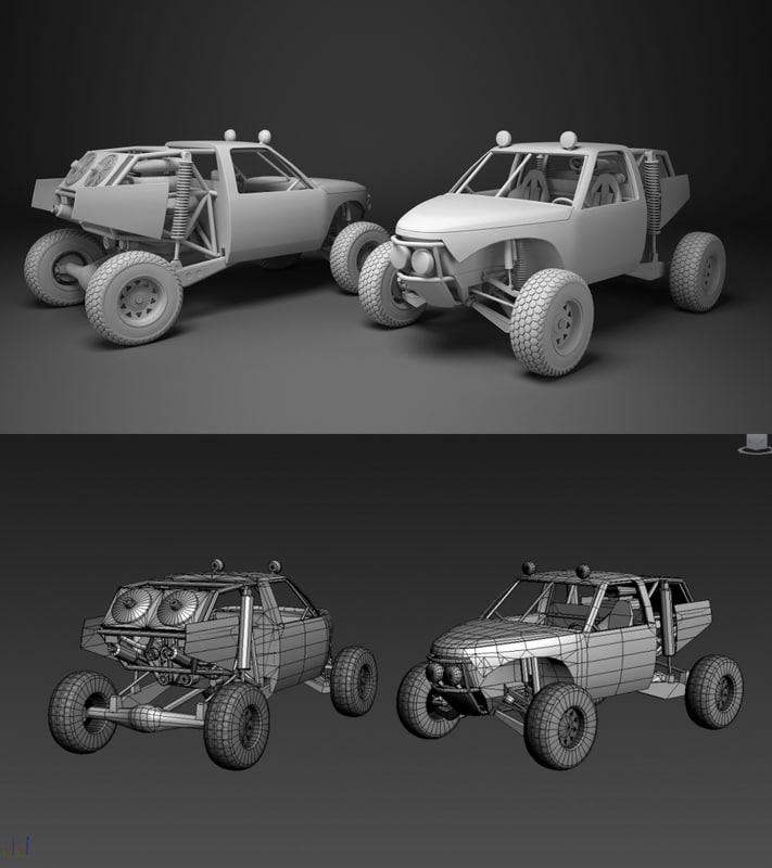 3d custom buggy model