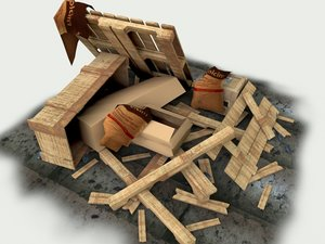 debris box 3d 3ds