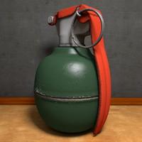 fragmentation grenade obj