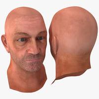male head 14 3d model