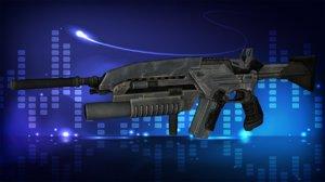 3d modern assault rifle