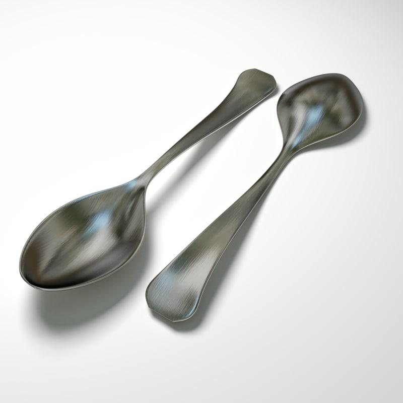3ds max teaspoon spoon